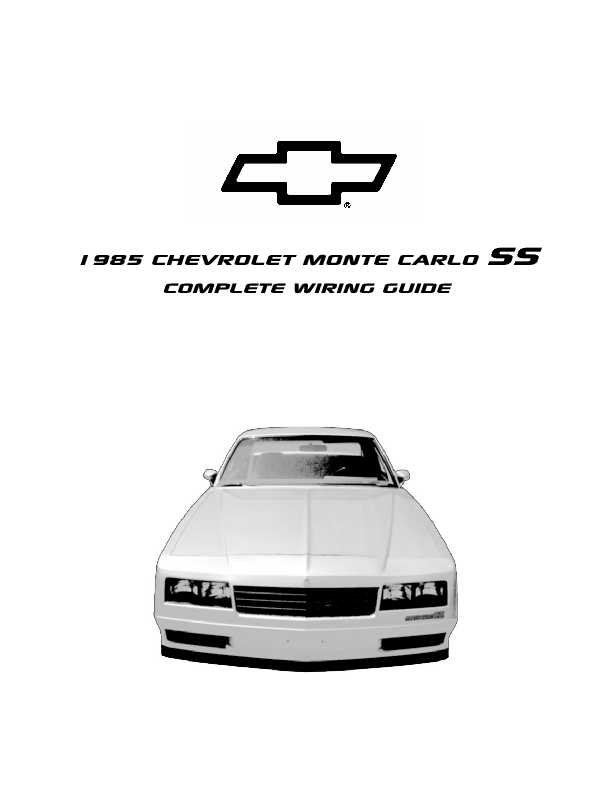 1995 chevrolet monte carlo complete wiring diagrams complete we