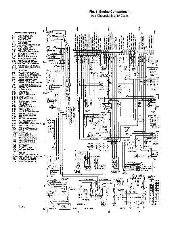 monte_85_wiring page 19 1995 chevrolet monte carlo complete wiring diagrams complete 1981 Chevy Engine Wiring Diagram at mifinder.co