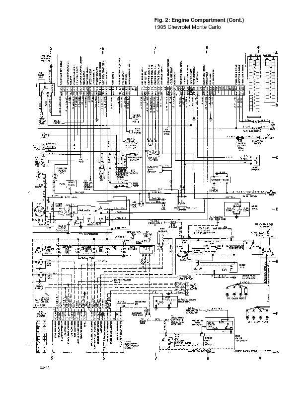 monte_85_wiring page 20 1995 chevrolet monte carlo complete wiring diagrams complete Monte Carlo Fan Wiring Diagram at creativeand.co