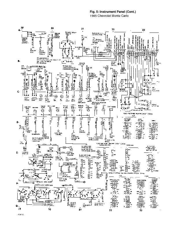 monte_85_wiring page 23 1995 chevrolet monte carlo complete wiring diagrams complete wiring diagram for 1987 monte carlo at mifinder.co